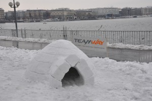 Igloo building in Geneva