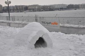 Construction d'un Igloo à Genève