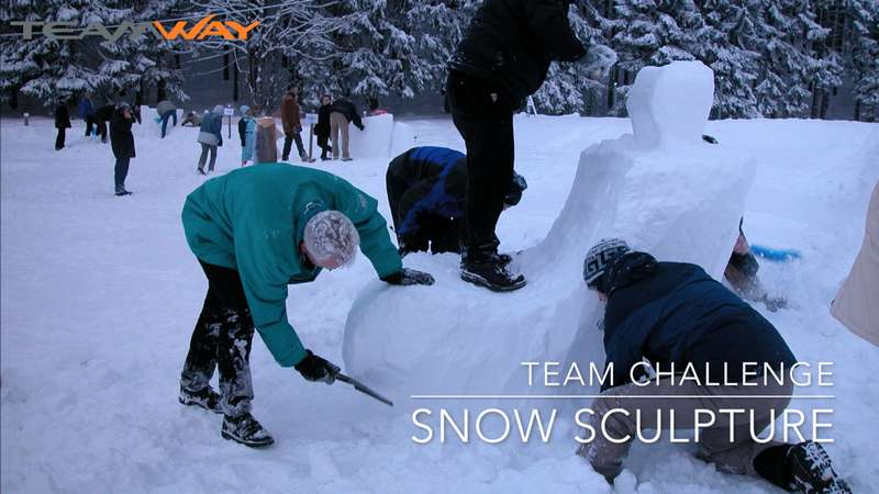 team challenge : snow sculpture- Teamway